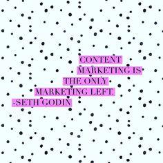 Couldn't agree more with Mr. Godin #contentmaketing #content #blogging #blogforbusiness #bedrijfsblog #blogabonnement #copywriting #openforbusiness