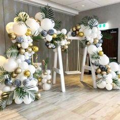 how to make an easy balloon arch – Meg McMillin – Balloon Decorations 🎈 - Geburtstag Deco Baby Shower, Shower Party, Baby Shower Themes, Baby Boy Shower, Baby Shower Decorations, Shower Ideas, Balloon Arch, Balloon Garland, The Balloon