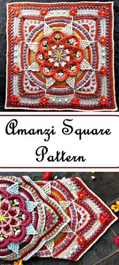 Transcendent Crochet a Solid Granny Square Ideas. Inconceivable Crochet a Solid Granny Square Ideas. Crochet Squares Afghan, Crochet Blocks, Granny Square Crochet Pattern, Crochet Granny, Crochet Motif, Crochet Stitches, Crocheting Patterns, Granny Squares, Granny Granny