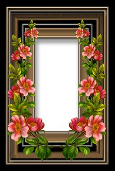 Floral Frame 26 by collect-and-creat Family Photo Frames, Picture Frames, Flower Frame, Flower Art, Xmas Frames, Floral Frames, Picture Borders, Boarders And Frames, Birthday Frames