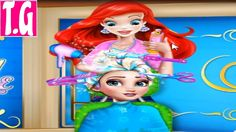Elsa Braided Hairstyle— GAMES FOR KIDS.  HD 1080p