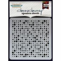 "Donna Downey Signature Stencils 8.5""x8.5"" - Grunge Halftone Dots"