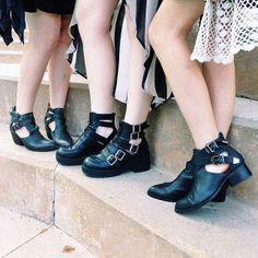 Tianna in the Jeffrey Campbell Myles Bootie and the Jeffrey Campbell Everly Cutout Boot || Get the booties: http://www.nastygal.com/product/jeffrey-campbell-myles-bootie/ Get the boots: http://www.nastygal.com/product/everly-cutout-boot/