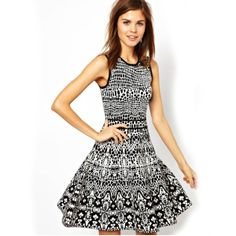 Individual Print Fashion Open Hem Tight Waist Sleeveless Dress