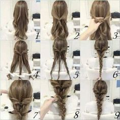 Very Cute Braid hairstyle! EASY and PRETTY! Check now! <3
