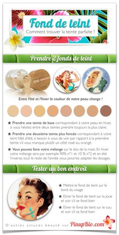 comment-trouver-teinte-parfaite-fond-de-teint-pinup-bio #maquillage #pinup #bio