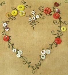 Coração de botões