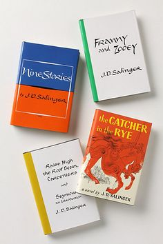 the must-have full j.d. salinger collection for the bookshelf  #Anthropologie #PintoWin