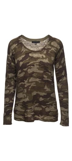Sanctuary Renee Printed Camo Crew Sweater in Heritage Camo / Manage Products / Catalog / Magento Admin