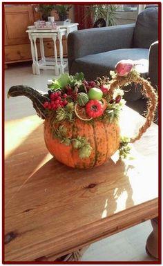 14 Fantastic DIY Pumpkin Decorating Ideas To Decorate Your Home . - 14 fantastic DIY pumpkin decorating ideas to beautify your home decor - Thanksgiving Decorations, Halloween Decorations, Thanksgiving Diy, Autumn Decorating, Pumpkin Decorating, Decorating Ideas, Diy Pumpkin, Pumpkin Carving, Pumpkin Ideas