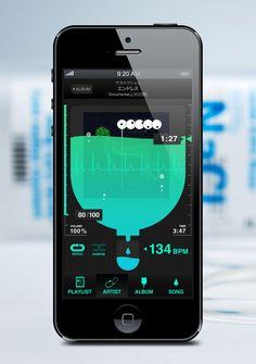 #app #interface #design #ios #apple  小遣い帳とかのappでこんあUIだとちょっと面白いね〜だんだん水かさが減っていっちゃうみたいな
