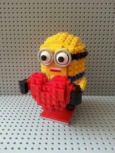 Lego-Minions!!! Wonder if my little Lego ninja could build me one? Then we can start planning on how to make more so we can go on vacation!