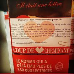 Il était une lettre de Kathryn Hugues  @calmann.levy @livredepoche  Coup de coeur @libcheminant  Vannes #coupdecoeurlitteraire #libraires #lespetitsmotsdeslibraires