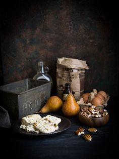 Pear and halva crumb