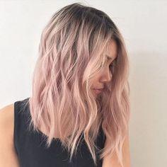 Top 19 Rose Gold Hair Color Ideas Trending in – Balayage Haare Blond Rose, Pastel Blonde, Pink Blonde Hair, Pastel Pink Hair, Short Pastel Hair, Blonde With Pink, Gray Hair, Gold Hair Colors, Ombre Hair Color