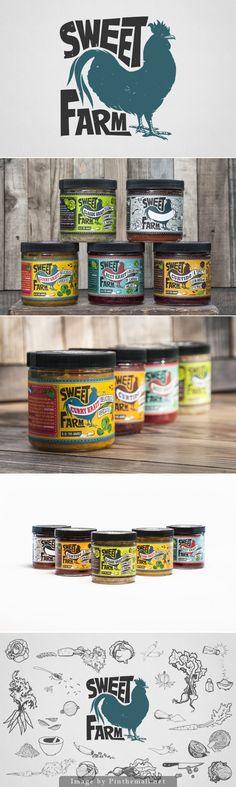 Sweet Farm Sauerkraut Label Design
