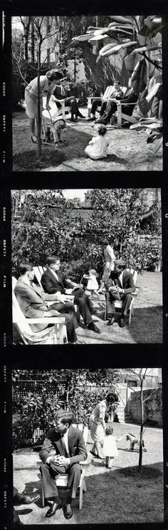 JFK 50 years on: The unseen pictures of his personal photographer Jacques Lowe. Garden fun, 1959.