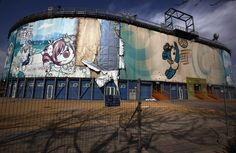Abandoned Olympic Venues - 2008 Olympics in Beijing The abandoned venue for the beach volleyball competition in Beijing, China.