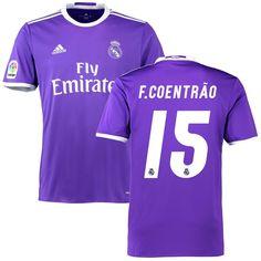 F. Coentrao Real Madrid adidas 2016/17 Away Replica Jersey - Purple
