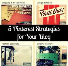 Five Pinterest Strategies for Your Blog