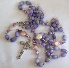 Catholic Rosary,Imfibinga, Jobs Tears, Prayer Beads, Rosary Necklace, Catholic Gift, 5 decade by kaysoothingbeads on Etsy