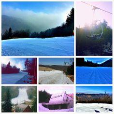 Die Bilder aus Telnice in einer Collage vereint. Spring Pictures, Winter, Collage, Mountains, Nature, Travel, Ski Resorts, Ski, Summer