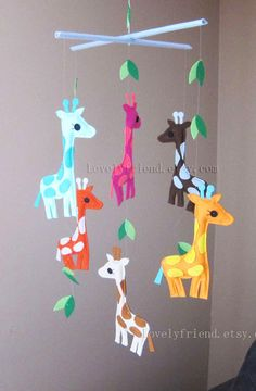 "Baby Crib Mobile - Baby Mobile - Baby Neutral Decorative Mobile - ""colorful…"