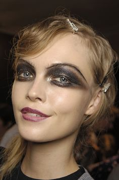 Siri Tollerod - Christian Dior Spring 2008 Ready-To-Wear Fashion Show Backstage in Paris October 2007 High Fashion Makeup, Fashion Beauty, Eye Makeup, Hair Makeup, Black Lipstick, Dramatic Eyes, Making Faces, Makeup Inspiration, Makeup Ideas