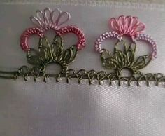 This Pin was discovered by mel Needle Tatting, Needle Lace, Bobbin Lace, Needle And Thread, Drawn Thread, Thread Work, Baby Knitting Patterns, Knitting Yarn, Japanese Embroidery