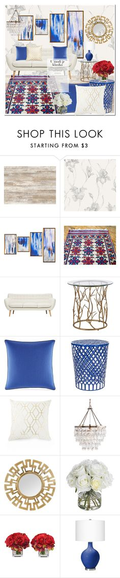 """Classic home decor idea by SFRugs"" by sfrugs ❤ liked on Polyvore featuring interior, interiors, interior design, home, home decor, interior decorating, Nautica, Safavieh, Diane James and vintage"