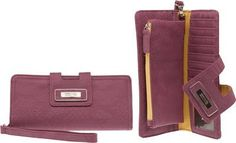 KENNETH COLE REACTION Matte Folding Tab Clutch W/ Strap [100811/898], RASPBERRY Kenneth Cole REACTION. $15.00. Save 70%!