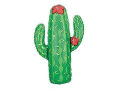 """Desert life. This seriously jumbo cactus mylar balloon is a best-seller. Select from cactusballoon only or cactustrio, which includes two 11""""latex balloons as shown. 41"""" mylar balloon. Tips: Balloons are shippedflat, without air or helium. Always supervise children with balloons and remove if damaged. Secure balloons to a weight to prevent power outages and harm to our environment."""
