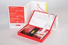 Ferrari Welcome Kit - Graphis Sales Kit, Book Press, Welcome Packet, F12 Berlinetta, Lab, Map Projects, Shock And Awe, Booklet Design, Folder Design