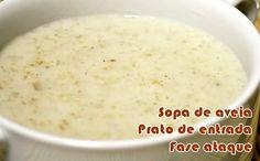receita sopa de aveia fase ataque dukan
