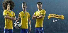 David Luis, Neymar & Thiago Silva cartoon