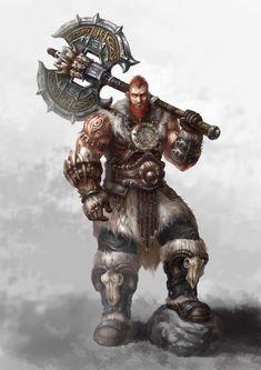 Therok, demi-geant, barbare et chevalier noir