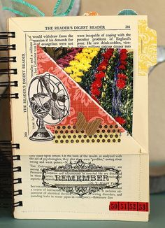Old book pages into mini album