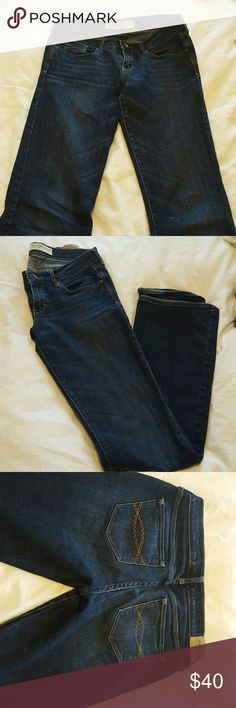"Abercrombie & Fitch perfect stretch denim Boot flare jeans, hardly worn although I love them! Size 27/4 - Length 35"". Practically new condition, thick denim with just enough give to hold great shape. Go great with any top and some pumps. Abercrombie & Fitch Pants Boot Cut & Flare"