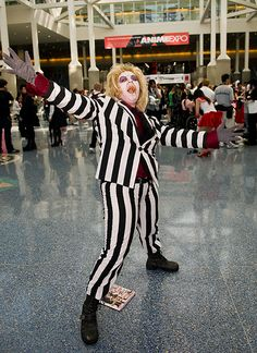 Beetlejuice cosplay.