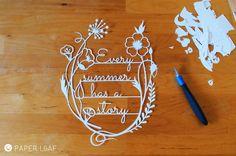 Paper Leaf | #papercut #papercutting #cutout | Fabriano paper