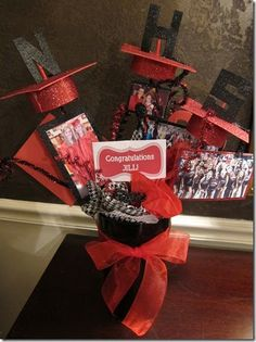 My friend wanted a table centerpiece for her daughter's graduation party. Easy! You can do this to celebrate anyone for any celebration. ...