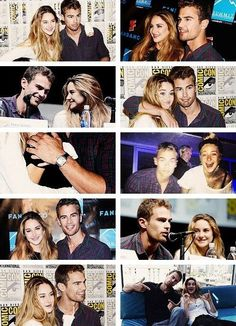 theo james & shailene woodley Their my favorite people at the moment. Divergent Fandom, Divergent Trilogy, Divergent Insurgent Allegiant, Divergent Jokes, Tris Und Four, Tris Et Tobias, Theo James, Beaux Couples, Cute Couples