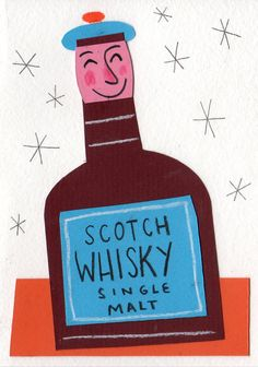 Scotch Whisky illustration (after whiskey galore poster) by Matt Johnson