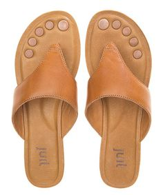Another great find on #zulily! Luggage Tan Cosi Leather Sandal #zulilyfinds