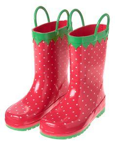 Strawberry Rain Boots at Gymboree