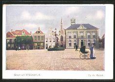 alte AK Steenwijk, Op de Markt