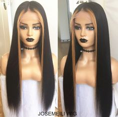 highlights Piano hair wigs brazilian hair human hair wigs frontal lace wigs preplucked hair f Frontal Hairstyles, Wig Hairstyles, 360 Lace Wig, Lace Wigs, Straight Lace Front Wigs, Front Lace, Lace Hair, Men's Hair, Straight Weave Hairstyles