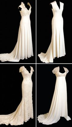LOVE all of these except the top right Lace sleeves - love! More of the  Vintage wedding dress # Vendors- Feel free to add your name to our vendor directory Visit - http://www.niagarafleamarket.ca/vendor-directory