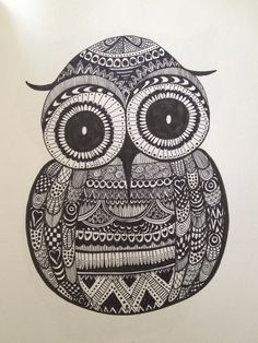 Owl Zentangle - ©Bec Bennett