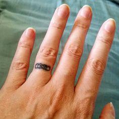 cool Top 100 wedding ring tattoos - http://4develop.com.ua/top-100-wedding-ring-tattoos/ Check more at http://4develop.com.ua/top-100-wedding-ring-tattoos/